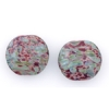 Lamp Bead Coin Large 2Pc 25.5x2.5mm Volcanic Red